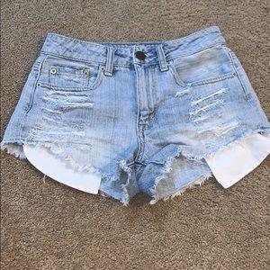 Distressed cut off shorts